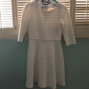 Quarter length white sleeve dress